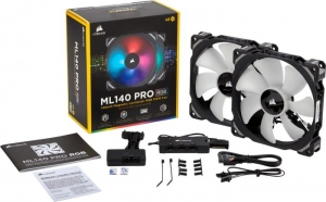 Corsair ML Series ML140 PRO RGB LED Premium Magnetic Levitation Fan CO-9050078-WW